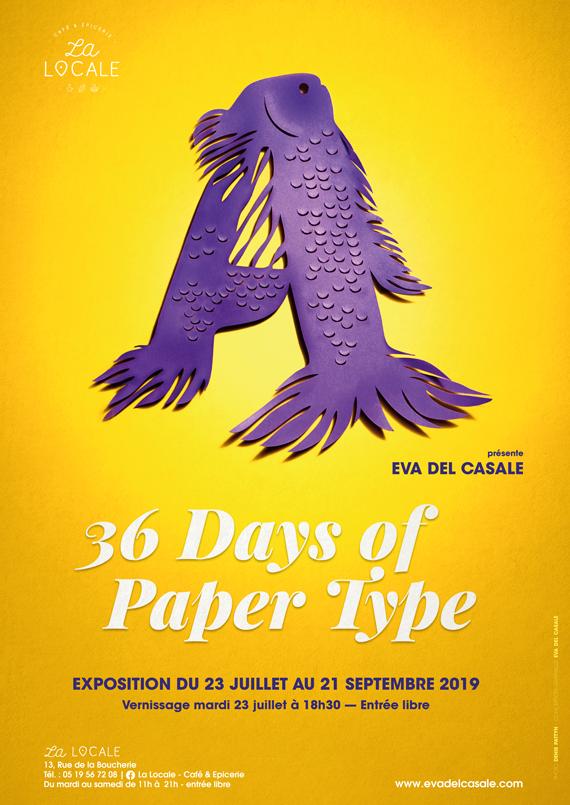 Affiche de l'exposition 36 days of paper type